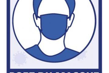 Port du masque obligatoire aux abords du Groupe scolaire