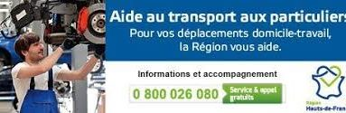 Aide au transport Région HDF